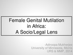 Female Genital Mutilation in Africa: A Socio-Legal Lens by Adiroopa Mukherjee