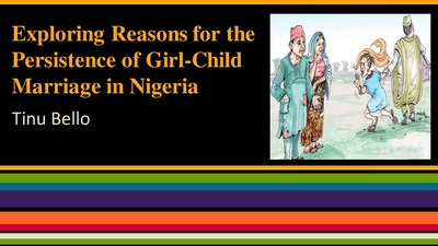 reasons for child marriage