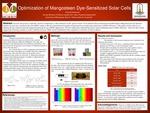 Optimization of Mangosteen Dye-Sensitized Solar Cells by Hannah Goemann