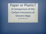 Paper or Plastic? A Comparison of the Carbon Emissions of Grocery Bags