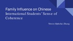 Family Influence on Chinese International Students' Sense of Coherence
