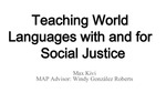 Teaching World Languages with and for Social Justice by Max Kivi